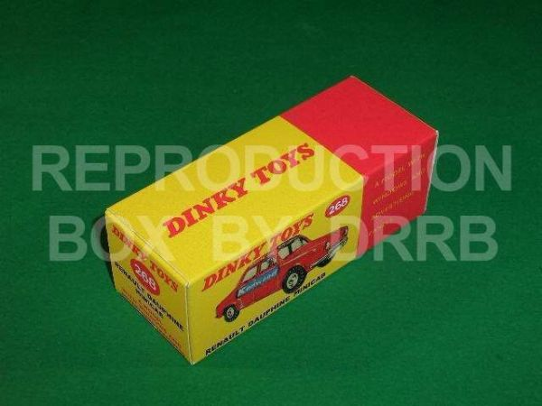 Dinky #268 Renault Dauphine Minicab - Reproduction Box